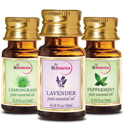 StBotanica Lemongrass And Lavender And Peppermint Pure Essential Oil 10ml Each