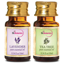 StBotanica Lavender And Tea Tree Pure Essential Oil 10ml Each