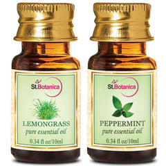 StBotanica Lemongrass And Peppermint Pure Essential Oil 10ml Each