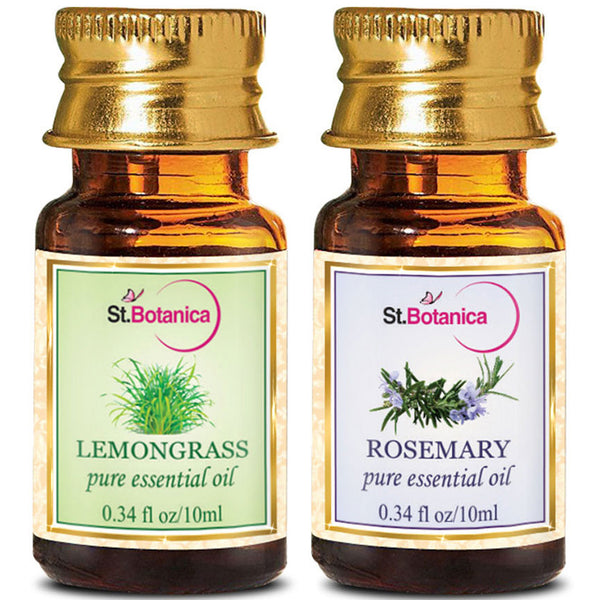 StBotanica Lemongrass And Rosemary Pure Essential Oil 10ml Each