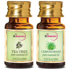StBotanica Tea Tree Oil And Lemongrass Pure Essential Oil 10ml Each