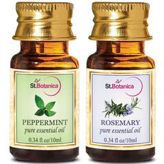 StBotanica Rosemary And Peppermint Pure Essential Oil 10ml Each