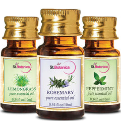 StBotanica Lemongrass And Rosemary And Peppermint Pure Essential Oil 10ml Each