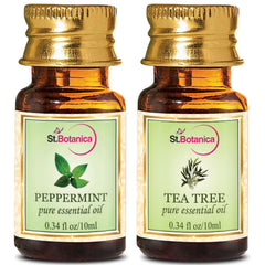 StBotanica Tea Tree Oil And Peppermint Pure Essential Oil 10ml Each