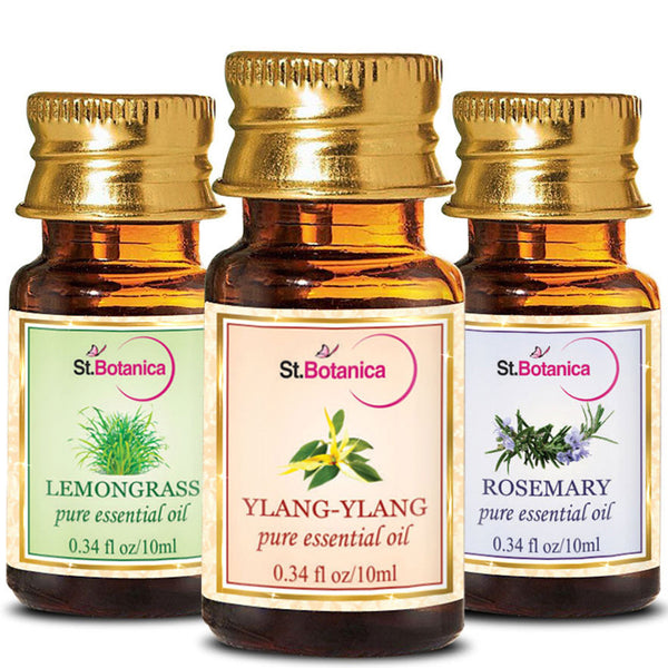 StBotanica Ylang Ylang And Lemongrass And Rosemary Pure Essential Oil 10ml Each