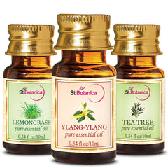 StBotanica Ylang Ylang And Lemongrass And Tea Tree Pure Essential Oil 10ml Each