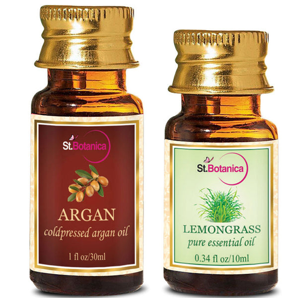 StBotanica Argan Oil 30ml And Lemongrass Pure Essential Oil 10ml