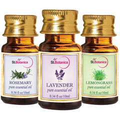 StBotanica Lavender And Lemongrass And Rosemary Pure Essential Oil 10ml Each