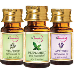 StBotanica Lavender And Peppermint And Tea Tree Pure Essential Oil 10ml Each