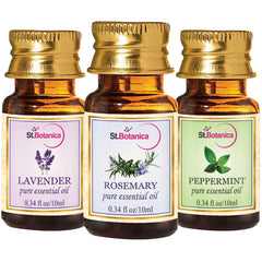 StBotanica Peppermint And Rosemary And Lavender Pure Essential Oil 10ml Each