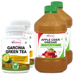 StBotanica Garcinia Green Tea 500mg Extract And Apple Cider Vinegar (Pack of 2)