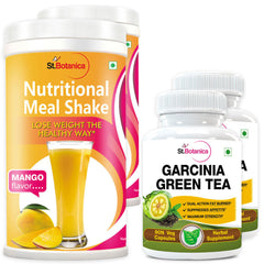StBotanica Garcinia Green Tea 500mg Extract And Nutritional Meal Replacement Shake (Pack of 2)