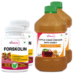 StBotanica Forskolin 500mg Extract And Apple Cider Vinegar With Honey (Pack of 2)