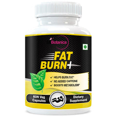 StBotanica Fat Burn+ And Dietary Supplement For Weight Loss (With Garcinia Raspberry Ketones & Green Tea) 60 Veg Capsules