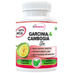 StBotanica Garcinia Cambogia Slim For Weight Loss 100% Pure 500mg Extract 60 Veg Capsules