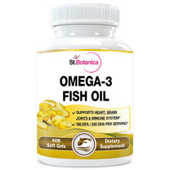 StBotanica Omega 3 Fish Oil (EPA 360mg DHA 240mg) 60 Softgels