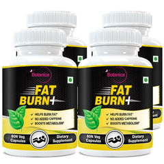 StBotanica Fat Burn+And Dietary Supplement For Weight Loss (With Garcinia Raspberry Ketones & Green Tea) (Pack of 4)