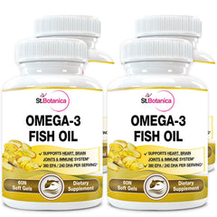 StBotanica Omega 3 Fish Oil (EPA 360mg DHA 240mg) (Pack of 4)