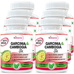 StBotanica Garcinia Cambogia Slim For Weight Loss 100% Pure 500mg Extract (Pack of 6)