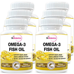 StBotanica Omega 3 Fish Oil (EPA 360mg DHA 240mg) (Pack of 6)