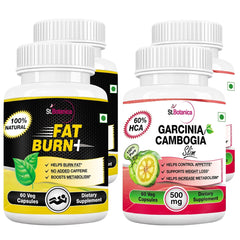 StBotanica Fat Burn+ And Garcinia Cambogia Slim (Pack of 4)