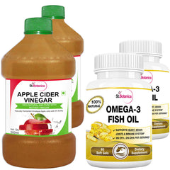 StBotanica Omega 3 Fish Oil And Apple Cider Vinegar (Pack of 4)