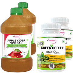 StBotanica Apple Cider Vinegar And Green Coffee Bean Extract (Pack of 4)