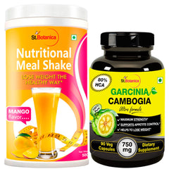 StBotanica Nutritional Meal Shake Mango And Garcinia Cambogia Ultra 80% HCA 750mg 90 Capsules