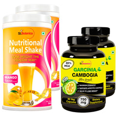 StBotanica Nutritional Meal Shake Mango And Garcinia Cambogia Ultra 80% HCA 750mg (2+2 Bottles)
