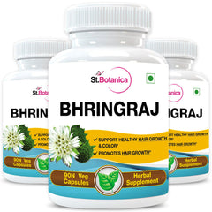 StBotanica Bhringraja (Eclipta Alba) 500mg Extract (Pack of 3)
