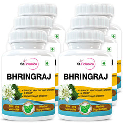StBotanica Bhringraja (Eclipta Alba) 500mg Extract (Pack of 6)