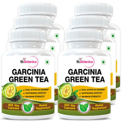 StBotanica Garcinia Green Tea 500mg Extract (Pack of 6)