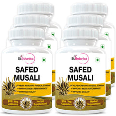 StBotanica Safed Musli Capsules 500mg Extract (Pack of 6)