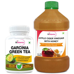 StBotanica Garcinia Green Tea 500mg Extract And Apple Cider Vinegar With Honey