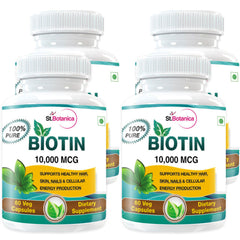 StBotanica Biotin For Healthy Hair Skin & Nail Care 10000mcg 60 Veg Capsules (Buy 2 Get 2 Free And Extra 25% off)