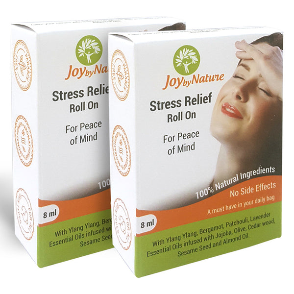 Joybynature Stress Relief Roll On 8ml Pack Of 2