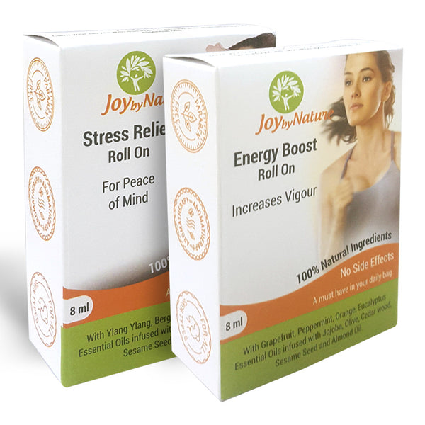 Joybynature Stress Relief And Energy Boost Roll On Combo