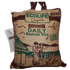 Ecolife Organic Fair Trade Super Fine Long Grain Rice (Sharbati) 1kg