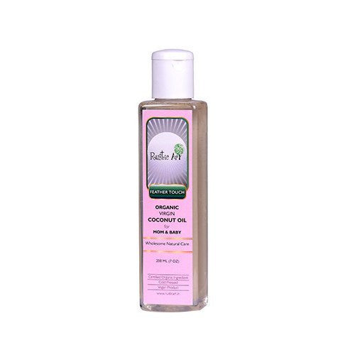 Baby Oil - Rustic Art Organic Virgin Coconut Oil (Mom And Baby) 200ml