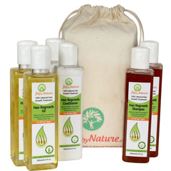 Joybynature 100% Natural Hair ReGrowth Treatment Kit (6x200ml)
