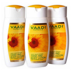 Body Lotion - Vaadi Herbals Hand & Body Lotion With Sunflower Extract (Pack Of 3)