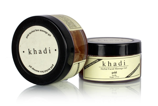 Face Care - Khadi Natural Gold Herbal Face Massage Gel 50gm