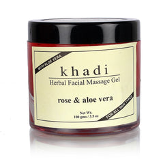 Face Care - Khadi Natural Rose & Aloevera Face Massage Gel 100gm