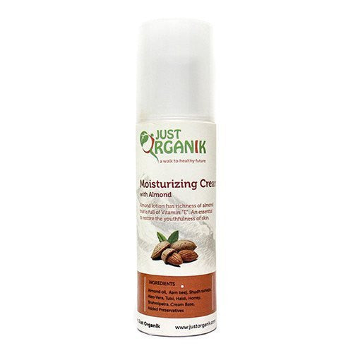 Face Cream - Just Organik Almond Moisturizing Cream 100ml