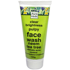 Face Wash - AuraVedic Clear Brightness Pulpy Face Wash With Neem Tea Tree 100gm