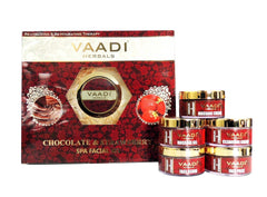 Facial Kit - Vaadi Herbals Deep-moisturising Chocolate Spa Facial Kit With Strawberry Extract 270gm