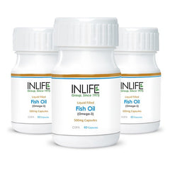 Inlife Fish Oil Omega 3 Capsules (Pack Of 3)