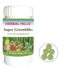 Green Food Supplement - Herbal Hills Super Greenhills 60 Tablets