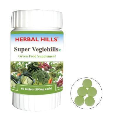Green Food Supplement - Herbal Hills Super Vegiehills 60 Tab