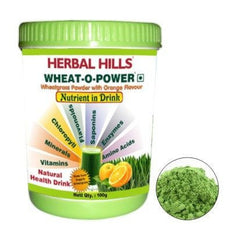 Green Food Supplement - Herbal Hills Wheat O Power With Orange Flavour 100gm